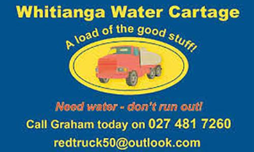 Whitianga Water Cartage